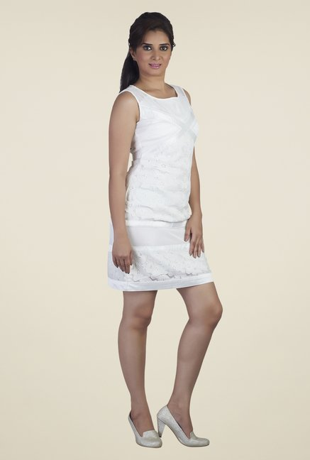 Soie White Lace Dress