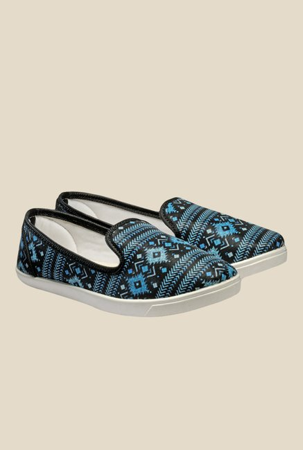 Nell Black & Blue Loafers