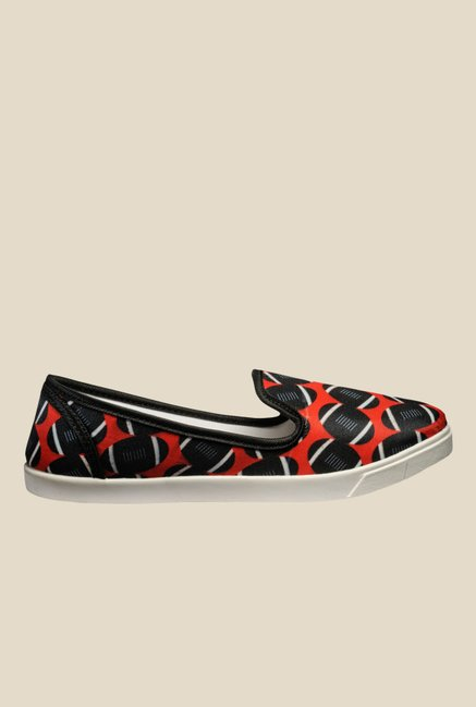 Nell Black & Red Loafers
