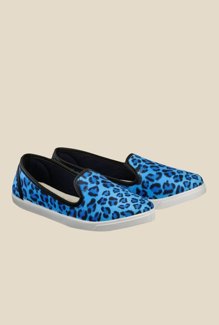 Nell Blue & Black Loafers