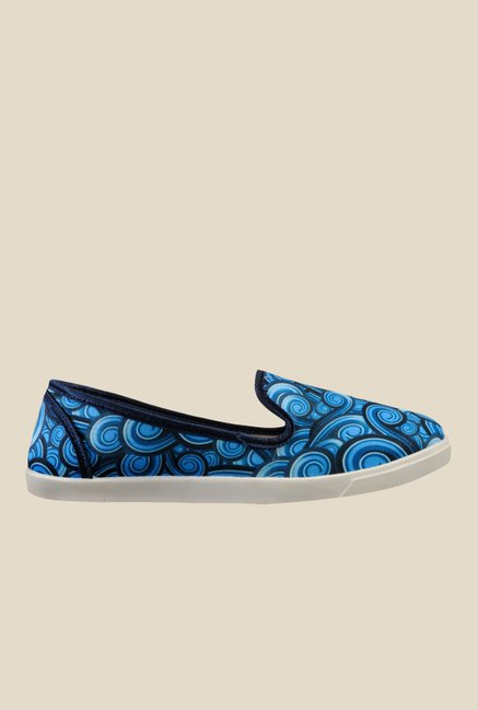 Nell Blue & White Loafers