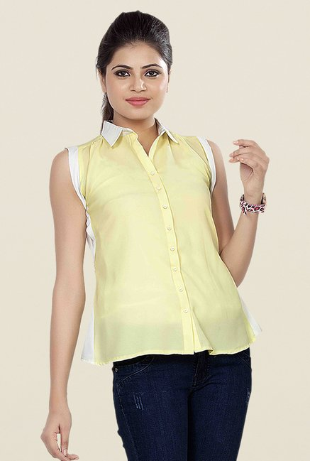 Soie Yellow Solid Shirt