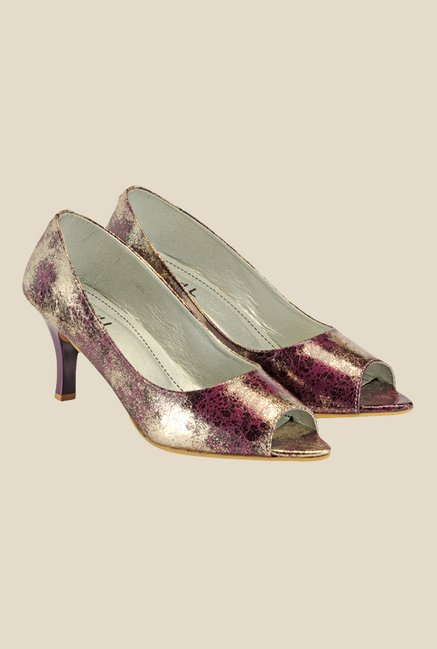 Nell Purple Peeptoe Shoes