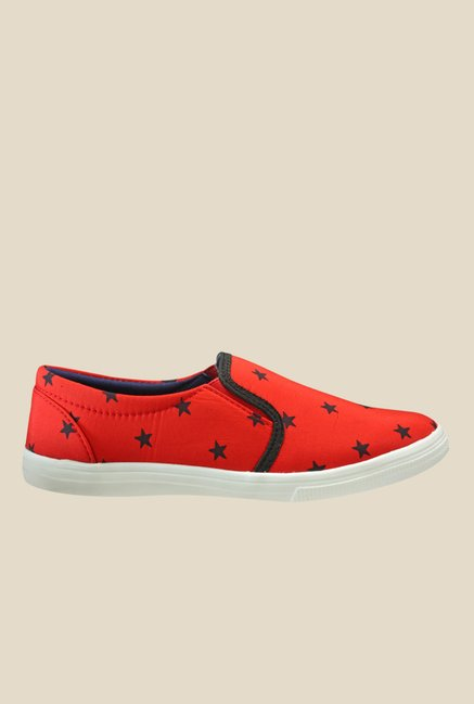Nell Red & Black Plimsolls