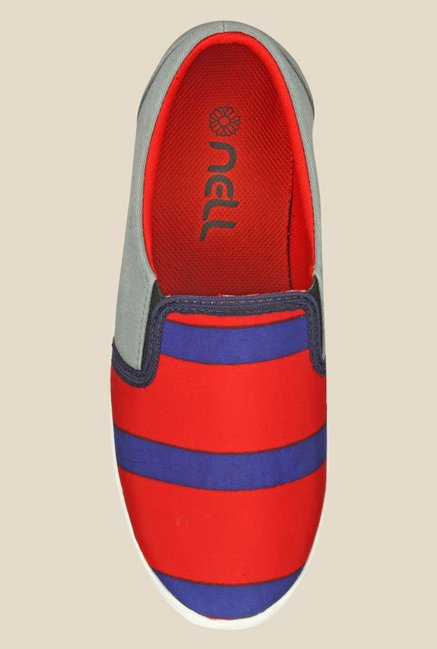 Nell Red & Blue Plimsolls