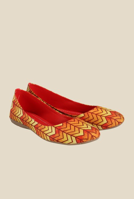 Nell Yellow & Orange Flat Ballets