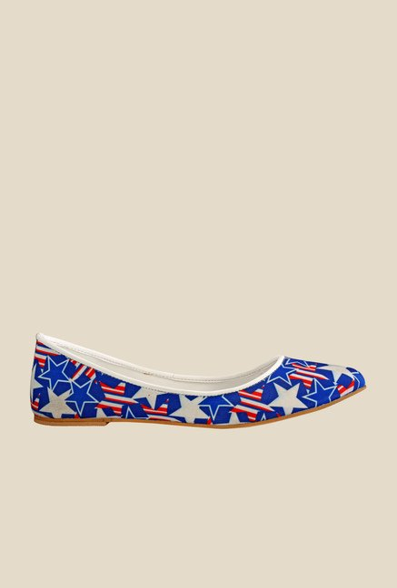 Nell Blue & White Flat Ballets