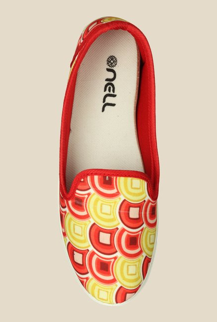 Nell Yellow & Red Loafers