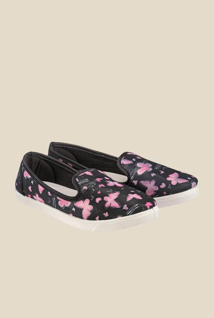 Nell Black & Purple Loafers