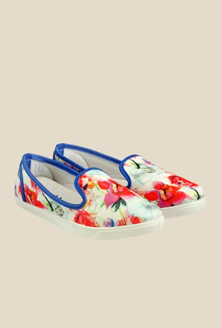 Nell White & Pink Loafers