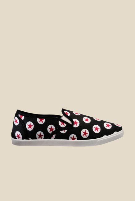 Nell Black & Red Plimsolls
