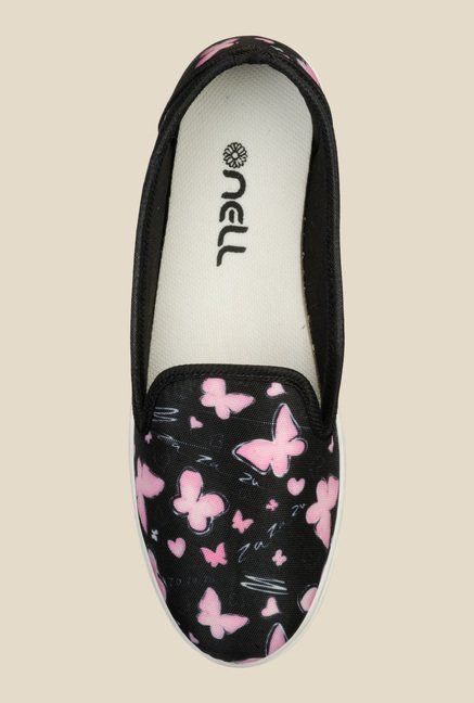 Nell Black & Pink Loafers