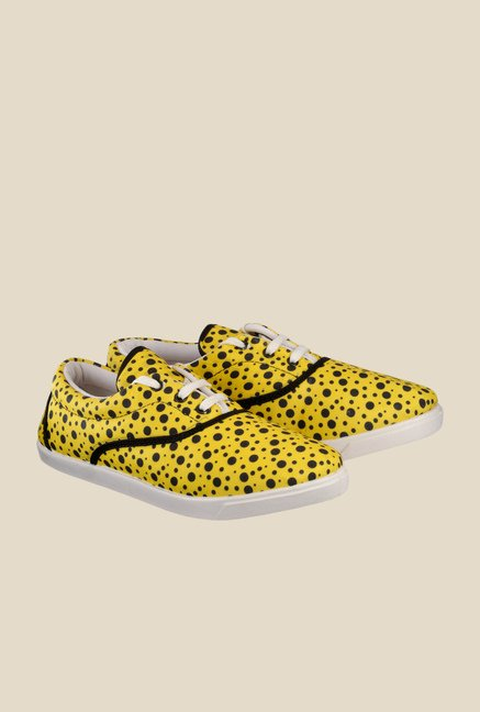 Nell Yellow & Black Plimsolls