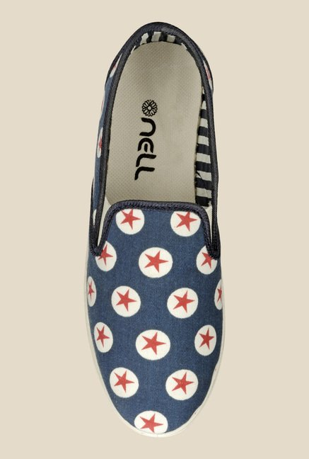 Nell Navy & Red Plimsolls