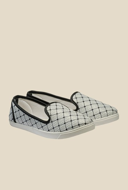 Nell Grey & Black Loafers