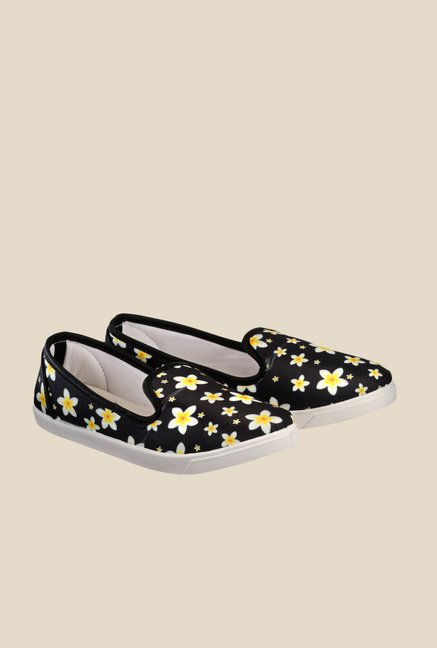 Nell Black & Yellow Loafers
