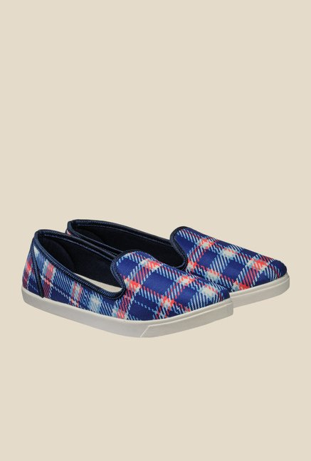 Nell Blue & Red Loafers
