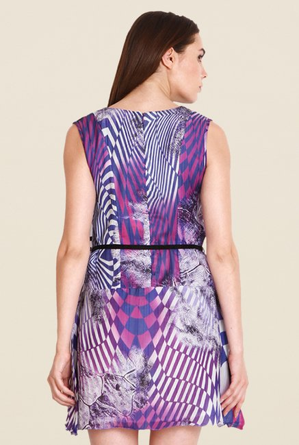 Soie Purple Printed Dress