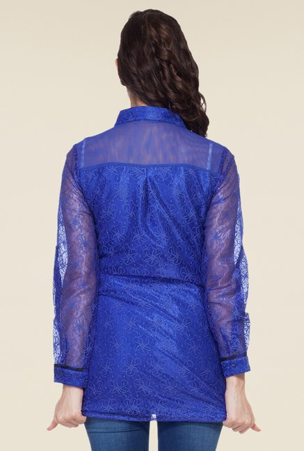 Soie Royal Blue Lace Tunic