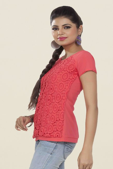 Soie Pink Lace Regular Fir Top
