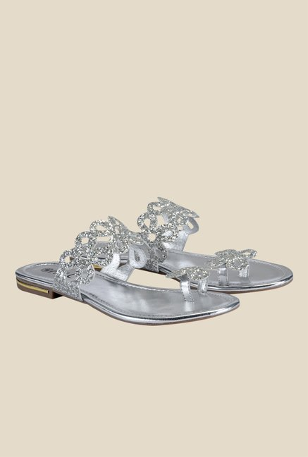 Nell Silver Toe Ring Sandals