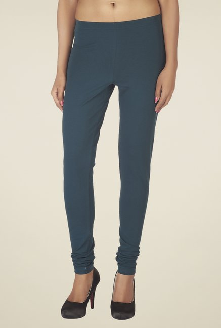 Soie Teal Solid Leggings