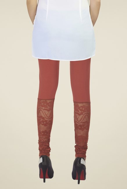Soie Wine Lace Leggings