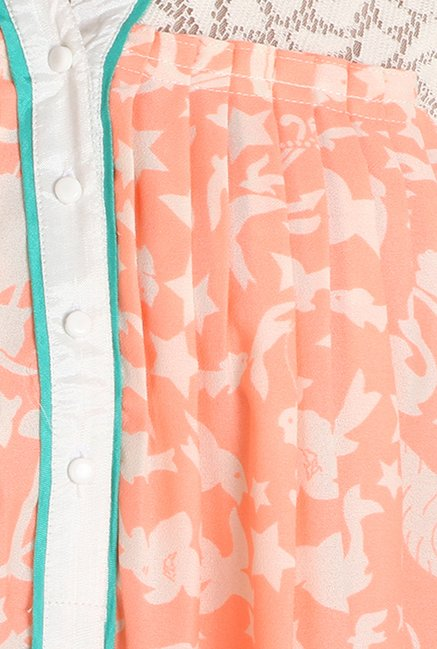 Soie Peach Printed Tunic