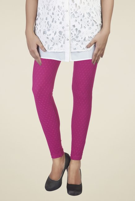 Soie Wine Self Print Leggings