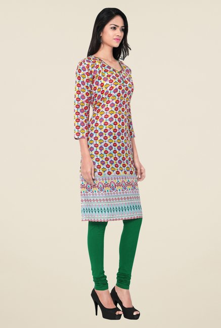 Triveni Maroon Printed Blended Cotton Kurta