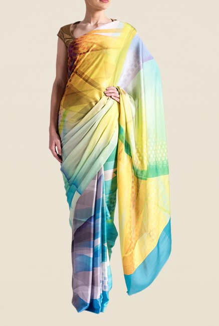 Satya Paul Multicolor Super Georgette Saree