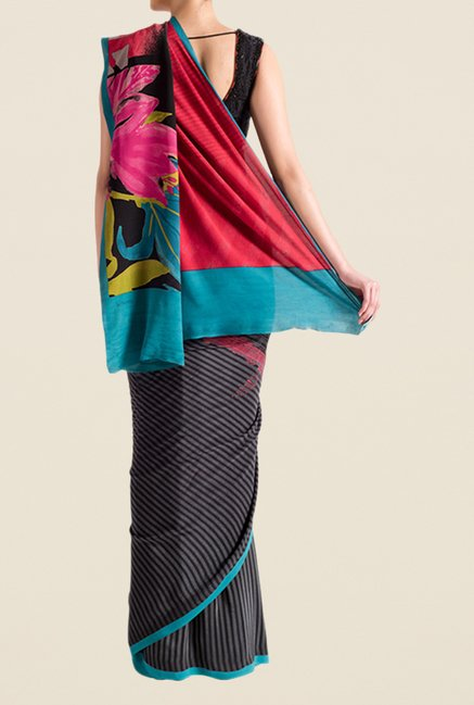 Satya Paul Black Super Georgette Saree
