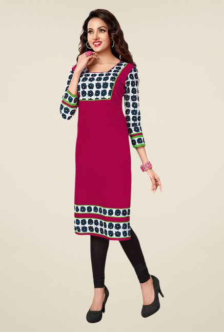 Salwar Studio Red,Black,Pink Unstitched Kurta (Pk Of 3)