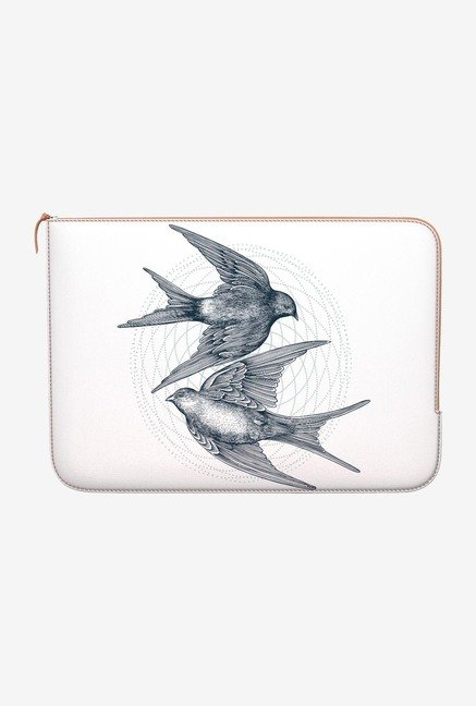 DailyObjects Circle Swallows MacBook 12 Zippered Sleeve