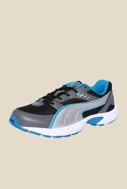 Puma Atom II Jr DP Black & Steel Grey Sneakers