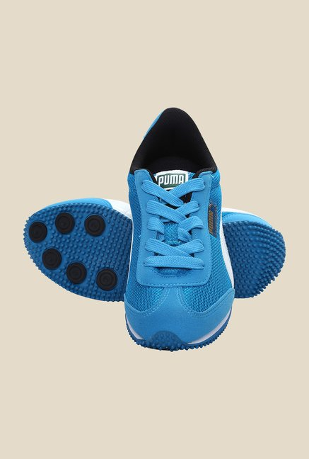 Puma Whirlwind Jr DP Blue Jewel & White Sneakers