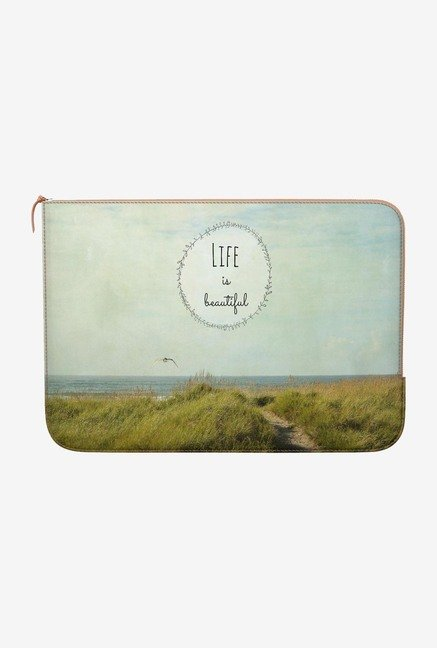 DailyObjects Beautiful life MacBook Air 13 Zippered Sleeve