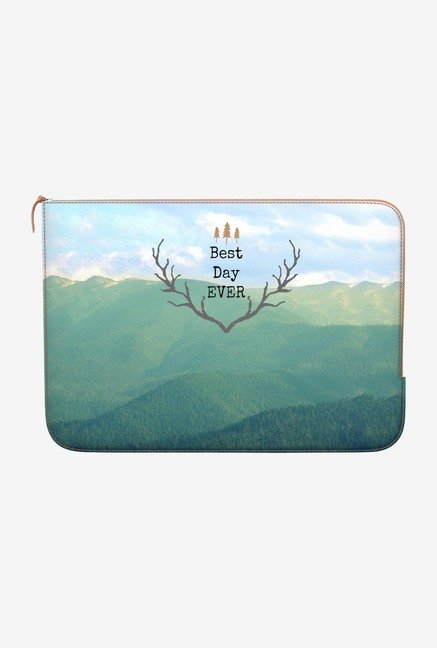 DailyObjects Best Day Ever MacBook Pro 15 Zippered Sleeve