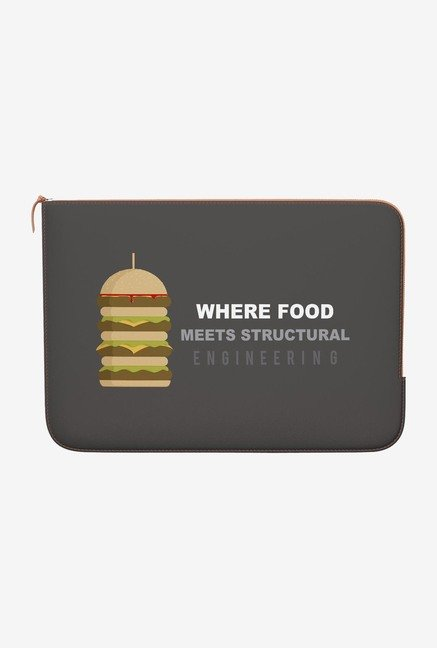 DailyObjects Burger MacBook Air 11 Zippered Sleeve