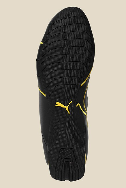 Puma Ferrari Future Cat M1 Black & Vibrant Yellow Sneakers