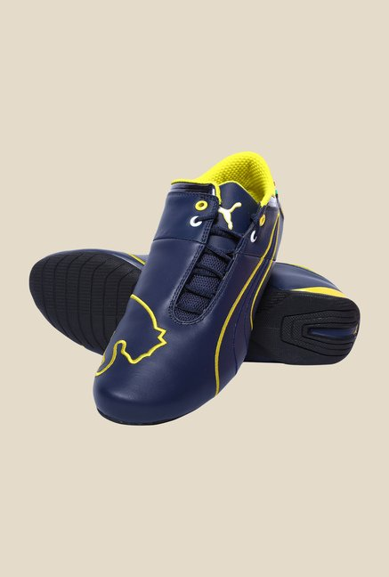 Puma Ferrari Future Cat M1 Dress Blue & Yellow Sneakers