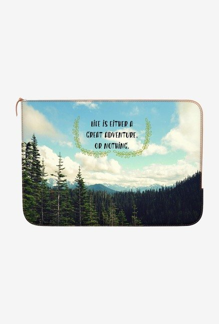 DailyObjects Life Adventure MacBook Pro 15 Zippered Sleeve
