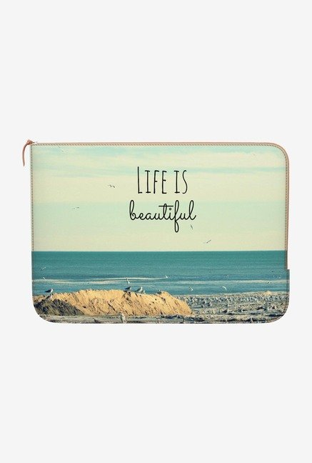 DailyObjects Life Beautiful MacBook Pro 15 Zippered Sleeve