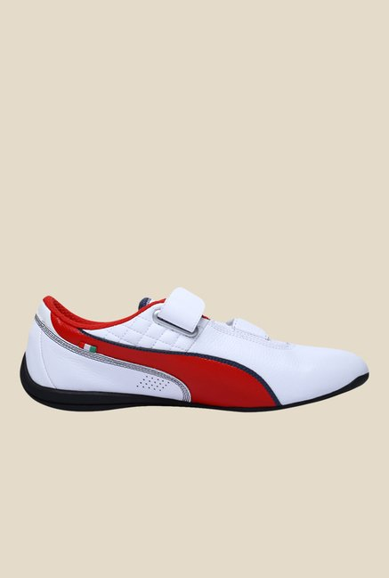 Puma Ferrari Drift Cat 6 AC SF White & Rosso Corsa Sneakers