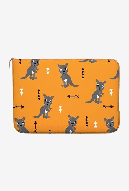 DailyObjects Orange Kangaroo MacBook Pro 15 Zippered Sleeve