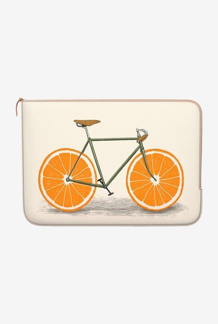 DailyObjects Orange Wheels MacBook Pro 15 Zippered Sleeve