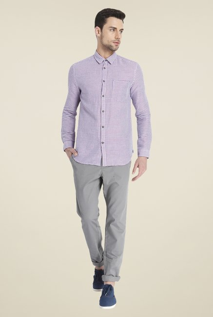 Jack & Jones Purple Linen Shirt