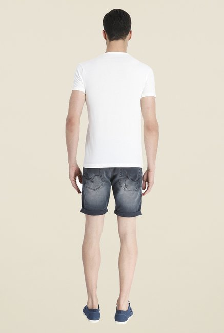 Jack & Jones White Graphic Print Short Sleeve T Shirt