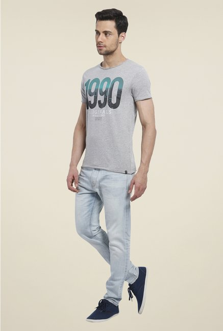 Jack & Jones Grey Graphic Print T Shirt