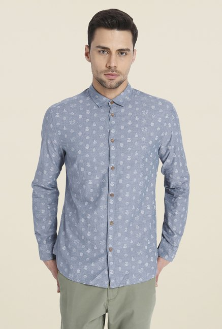 Jack & Jones Blue Printed Shirt